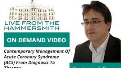 ACS Diagnosis to Therapy Justin E Davies