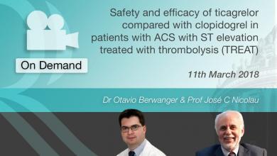 Ticagrelor vs Clopidogrel ACS - St Elevation Treated With Thrombolysis (TREAT)