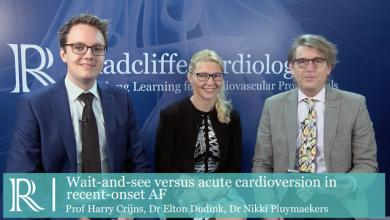 EHRA 2019: Wait‑and‑See vs. Acute Cardioversion in Recent‑Onset AF