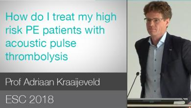 ESC 2018: Rationale For New Treatment Options For Intermediate-High Risk PE Patients