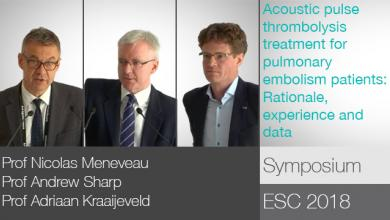 Symposium at ESC Congress 2018 sponsored by EKOS Corporation