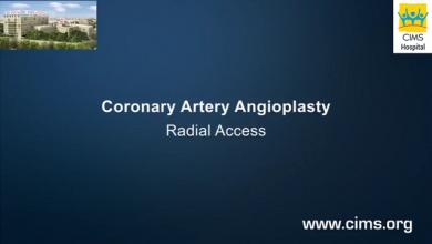 Coronary Artery Angioplasty Radial Access - CIMS Hospital
