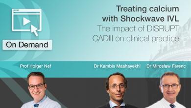 Treating calcium with Shockwave IVL – DISRUPT CADIII