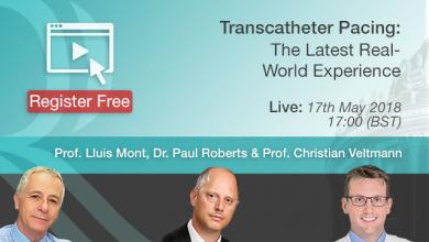 Transcatheter Pacing : The Latest real World Experience - 17th May 2018
